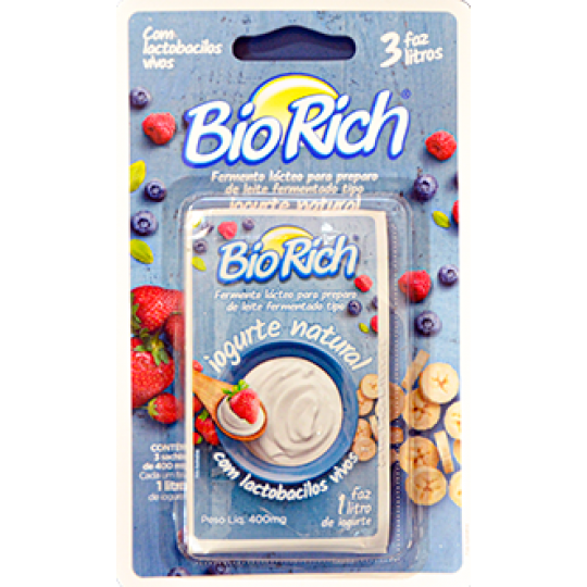 Fermento Lacteo Bio Rich 3 envelopes com 400mg