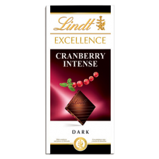 Chocolate Lindt Excellence Cranberry Intense 100g