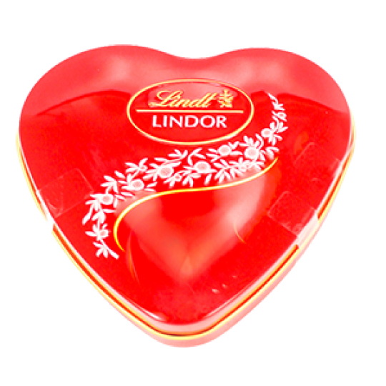 Chocolate Lindt Lindor Milk Heart Tin 48g