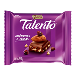 Chocolate Talento Tablete Amendoa e Passas 25g