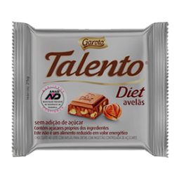 Chocolate Talento Tablete Diet Avelas 25g