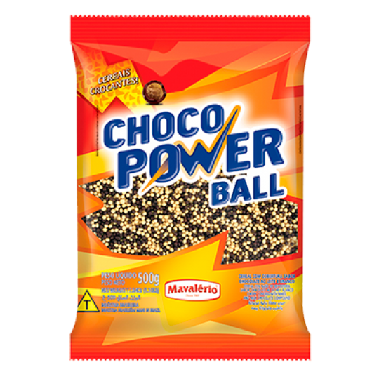 Choco Power Ball Micro Preto Branco Mavalerio 500g