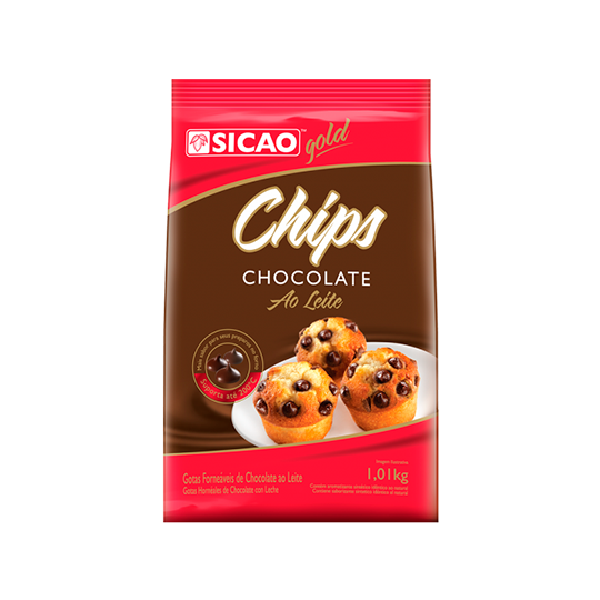 Chocolate ao Leite Sicao Chips 1,01kg